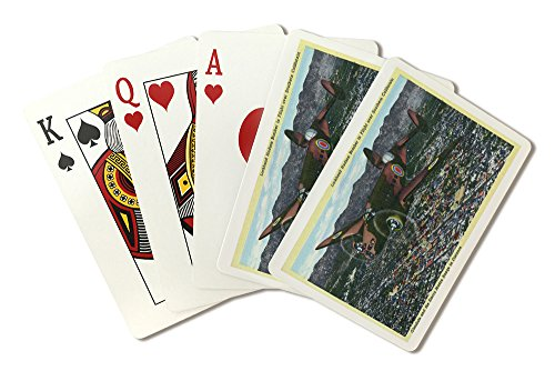 California - Lockheed Hudson Bomber in Flight (Playing Card Deck - 52 Card Poker Size with Jokers)