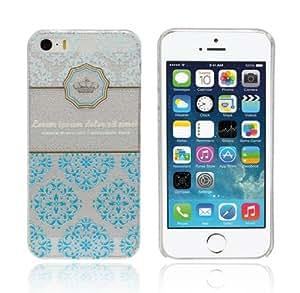 Sannysis 1PC Unique Transparent Hollow Hard Case Cover For iPhone 5 5G 5S (Clear3D Relief)