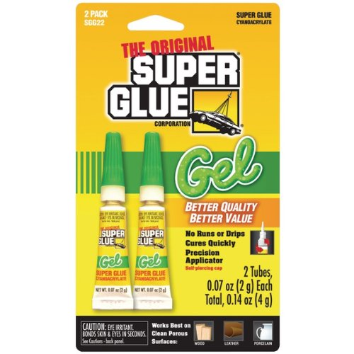 (Super Glue Sgg22-48 Thick Gel Super Glue Tubes (Double Pack) Product Type: Glues & Adhesives/Glues & Adhesives )