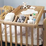 Baby Cot with Changer Baumhaus Amelie Oak Cot-Top Baby Changer by Baumhaus