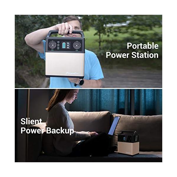 51Cbj LLWzL PowerOak 400wh mobiler energiespeicher solar generator lithium ionen power station 2AC 220V 2DC12V QC3.0 USB5V für…