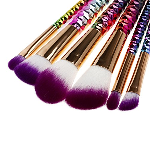 S'agapo FOR BEAUTY 6pcs Makeup Brush Set Rainbow hair Cosmetic Powder Blush Fondation Foundation Fan Brush New Makeup Brush Kits