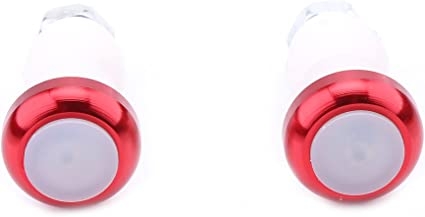 Helpful Handle Bar End Plug LED Red Light Lamp Bike Turn Signal Safety Cycling