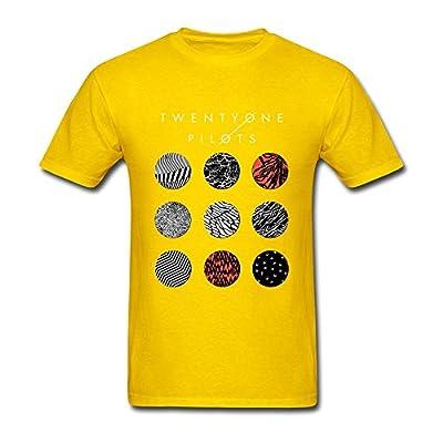 Guwmi Men's Twenty One Pilots Blurryface T Shirt Yellow S