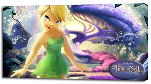 TINKERBELL Disney CANVAS PRINT Home Wall Decor Art Fairies Giclee Girls P079, - Pictures Fairies Tinkerbell