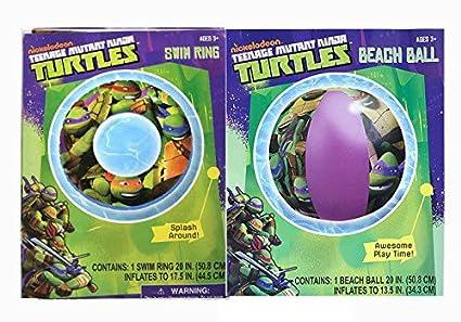 Amazon.com: Teenage Mutant Ninja Turtles KIDS Swimming Ring ...