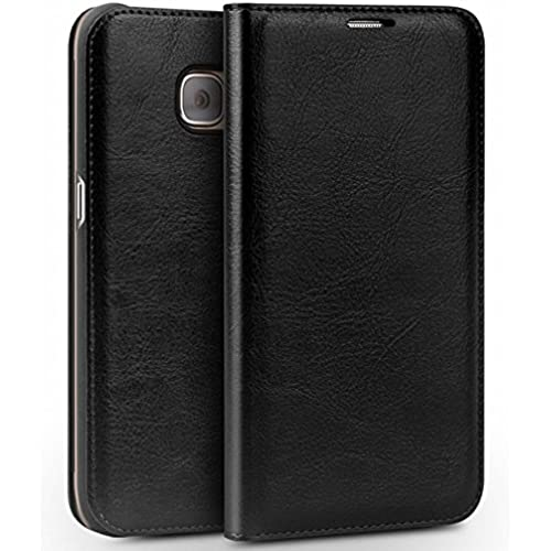 Mehr Samsung Galaxy S7 - S7 Edge Leather Wallet Case (S7 Edge Black) Sales