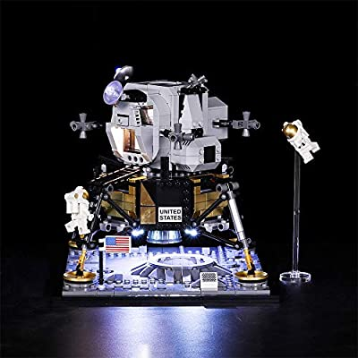 Vonado LED Light Kit for Lego 10266 NASA Apollo 11 Lunar Lander Lighting Set Building Blocks Toys Indoor Interior Christmas Halloween Festival Gift((Not Include Lego Set)): Toys & Games