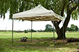 All Seasons Gazebos , 3x3m (10ft x 10ft) Heavy Duty, Full Waterproof , PVC Coated Premium Pop Up Instant Gazebo (Beige)