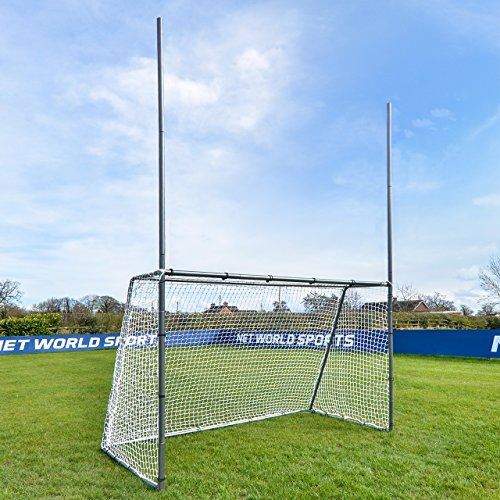 Net World Sports Forza Steel42 Football/Soccer Combination Goal Posts - Super Strong Steel Goals for The Backyard (8ft x 5ft)