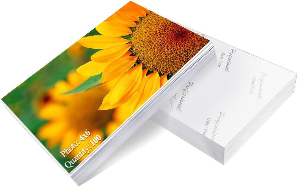 Papel fotográfico Papel de alto brillo de 4x6 pulgadas 100 h