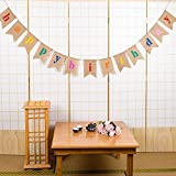 Esonmus Happy Birthday Banner Colorful Bunting Banner Garland Flags for Birthday Party Decorations (Brown)
