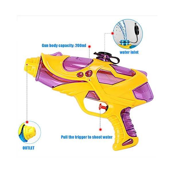 Pistole ad Acqua Giocattolo 2 PCS Pistola Ad Acqua 200ml Pistola Giocattolo Giocattoli Estivi per Bambini Squirt Guns… 4 spesavip
