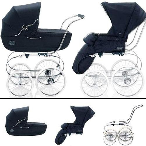 Inglesina SYSTM11MAR Classica Pram and Seat with Raincover - Navy by Inglesina