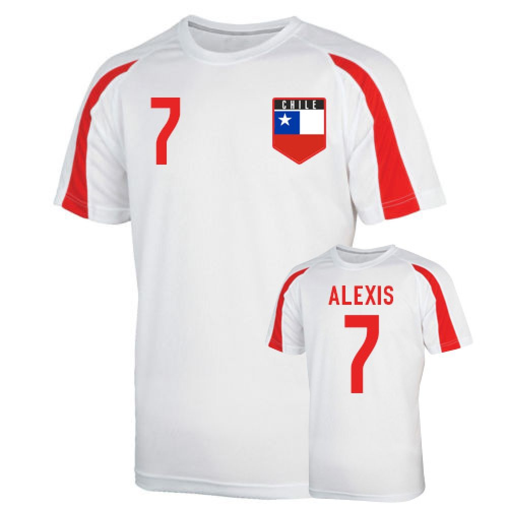 Chile Sports Training Jersey (alexis 7) Kids B0787XS7RKWhite XSB (3-4 Years)