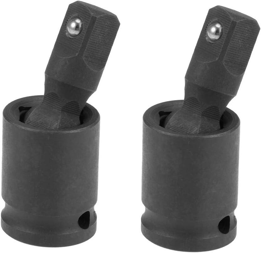 uxcell Universal Socket Joint 3//8-Inch Hex Ball Spring Swivel Socket Adapter Cr-V Black 2 Pcs