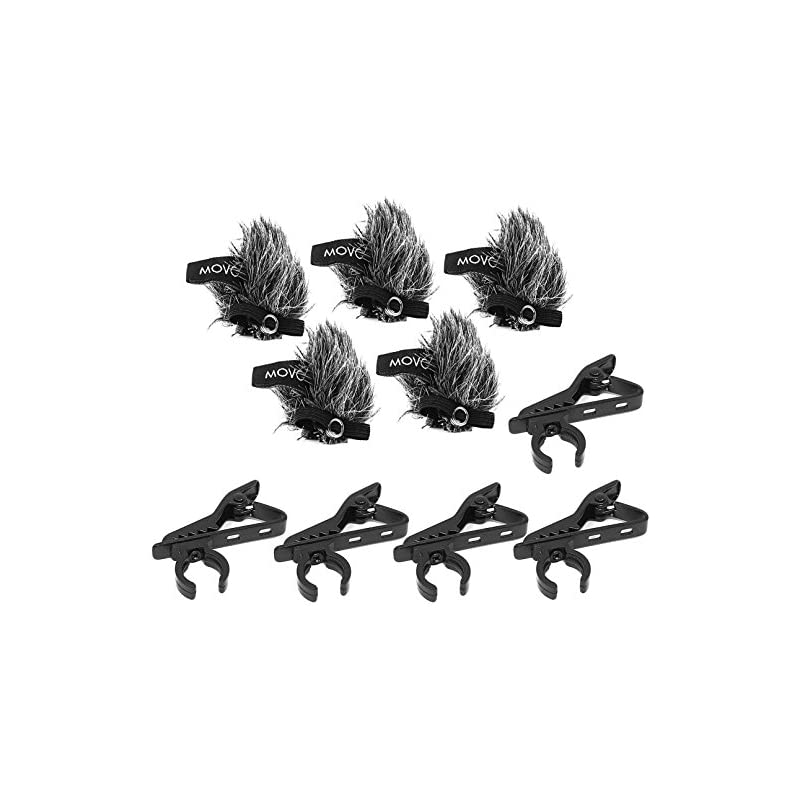 Movo MCW8 5-PACK of Lavalier Microphone