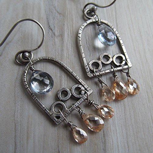Sparkling Silver Chandelier Earrings- Diana Anton Jewelry Design -