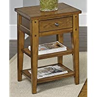 Liberty Furniture 110-OT1021 Lake House Chair Side Table, 18 x 18 x 26, Oak