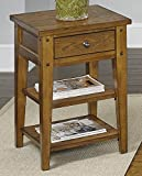 Liberty Furniture 110-OT1021 Lake House Chair Side Table, 18″ x 18″ x 26″, Oak For Sale