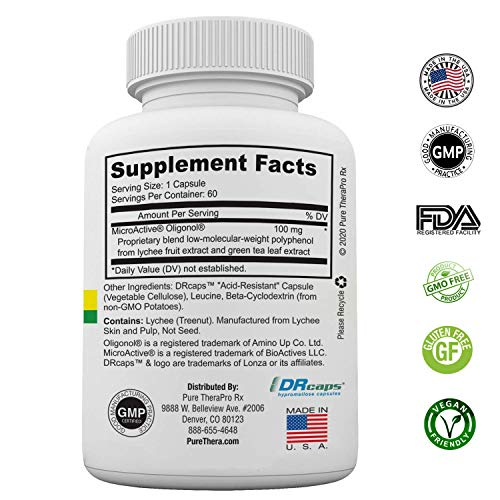"""51CbnZpJq7L - MicroActive Oligonol """"Sustained Release"""" 60 Veg Caps 