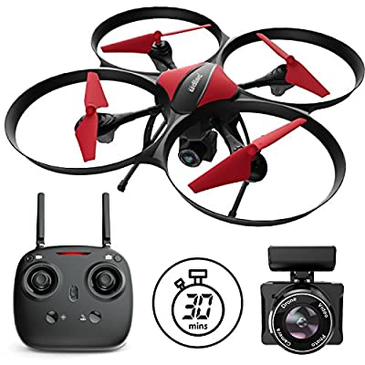 "Force1 Drones with Camera - ""U49C Red Heron"" Camera Drone for Kids and Adults with 720p RC Drone Camera + Drone Video Camera SD Card Drone Kit from Force1"
