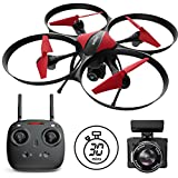 "Force1 Drones Camera - ""U49C Red Heron"" Camera Drone Kids Adults 720p RC Drone Camera + Drone Video Camera SD Card Drone Kit"