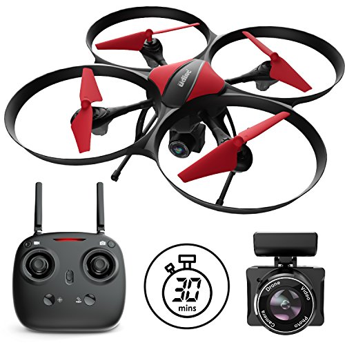 Force1 Drones with Camera - U49C Red Heron Quadcopter Drone with Camera and Drone Long Flight Time