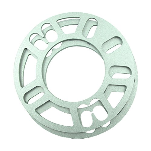 2PCS Aluminum Alloy 4 and 5 Lug 3mm Wheel Spacer Gasket For Auto Vehicle