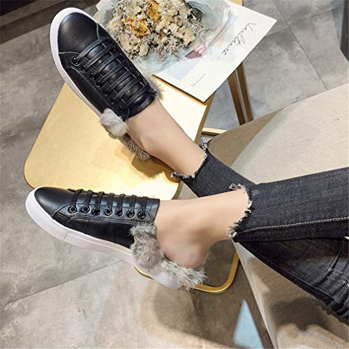 Casual Black Autumn Lazy YUCH Chaussures Pantoufles Casual Femme PwgEF