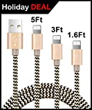 Software : Ambet iPhone Lightning Cable to USB Cable- 3PCS 1.6Ft 3Ft 5Ft (0.5M 0.9M 1.5M) Gold Cord -Sync apple iOS iPhone Charging Charger Cable for iPhone 7/SE/6s/6/ 5/5c/5s/Plus, iPad, iPod