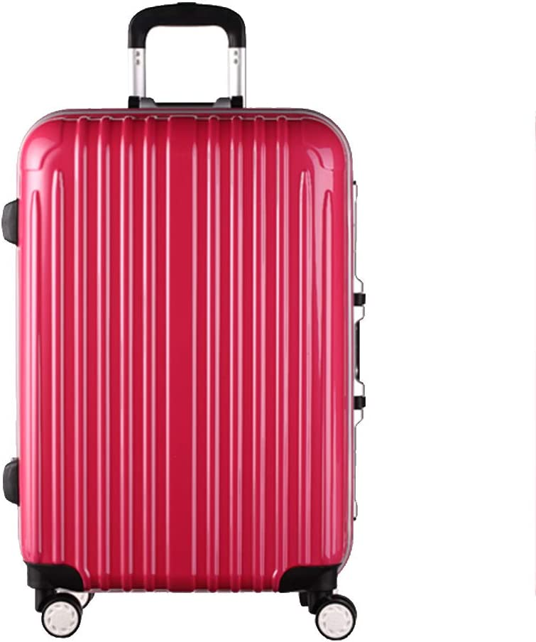 ZJ-Trolley Trolley Case-24//26 Inch Aluminum Frame Universal Wheel Trolley Case Student Large Capacity Luggage Solid Color Password Suitcase Business Travel Check Box 5 Color Optional /&/&