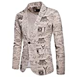 Clearance Sale! 2018 Wintialy Charm Men's Casual One Button Fit Suit Blazer Coat Jacket Printed Tops