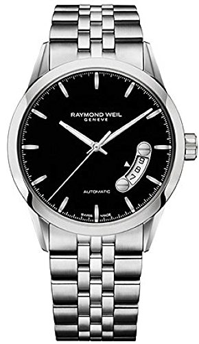 Raymond Weil Freelancer Black Dial SS Automatic Men's Watch 2770-ST-20011