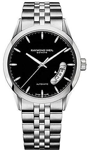 Raymond Weil Black Wrist Watch (Raymond Weil Freelancer Black Dial SS Automatic Men's Watch)