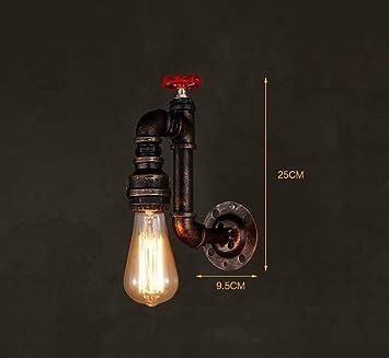 Mkjbd Linterna de Pared Lámpara de Jardín Lámpara de Pared Lámpara de Pared Americana Vintage Estilo