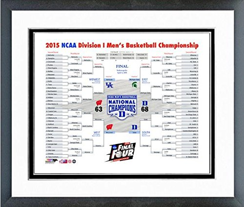 Duke Blue Devils 2015 NCAA Final Four Bracket Photo (Size: 12.5