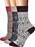 Flora&Fred Women's Vintage Cotton Crew Socks, Size 10-12 / Shoe Size 8-11, Fair Isle, 3 Pairs Pack