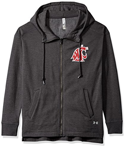Under Armour NCAA Washington State Cougars Womens NCAA Women's Full-Zip Fleece Hood, X-Large, Carbon Grey