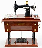 Jacki Design Sewing Machine Music Box Brown Eyl28005