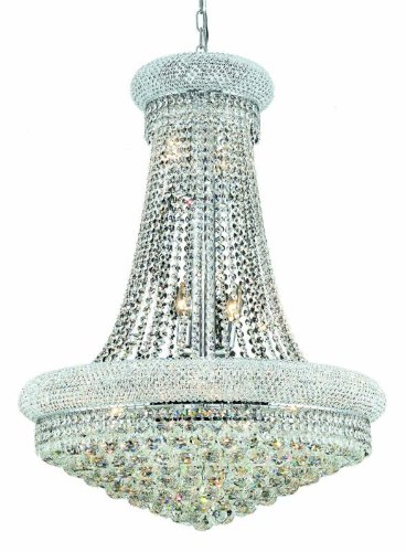(Elegant Lighting 1800D28C/SS Primo Collection 14-Light Hanging Fixture Swarovski Strass/Elements Crystals with Chrome Finish)