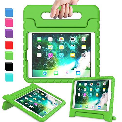 AVAWO Kids Case for New iPad 9.7 2017 & 2018 Release - Light Weight Shock Proof Convertible Handle Stand Friendly Kids Case for iPad 9.7-inch 2017 & 2018 Previous Gen (iPad 5th & 6th Gen) - Green