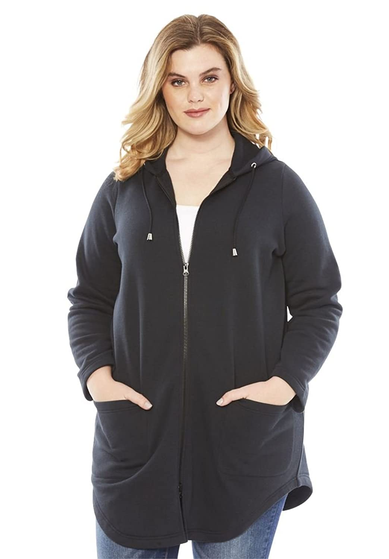 Women's Plus Size Fleece Baseball Jacket at Amazon Women's Coats Shop