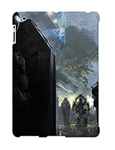 First-class Case Cover Series For Ipad 2/3/4 Dual Protection Cover Futuristic Soldier Hiding From The Police FLHevch1956QmVdY