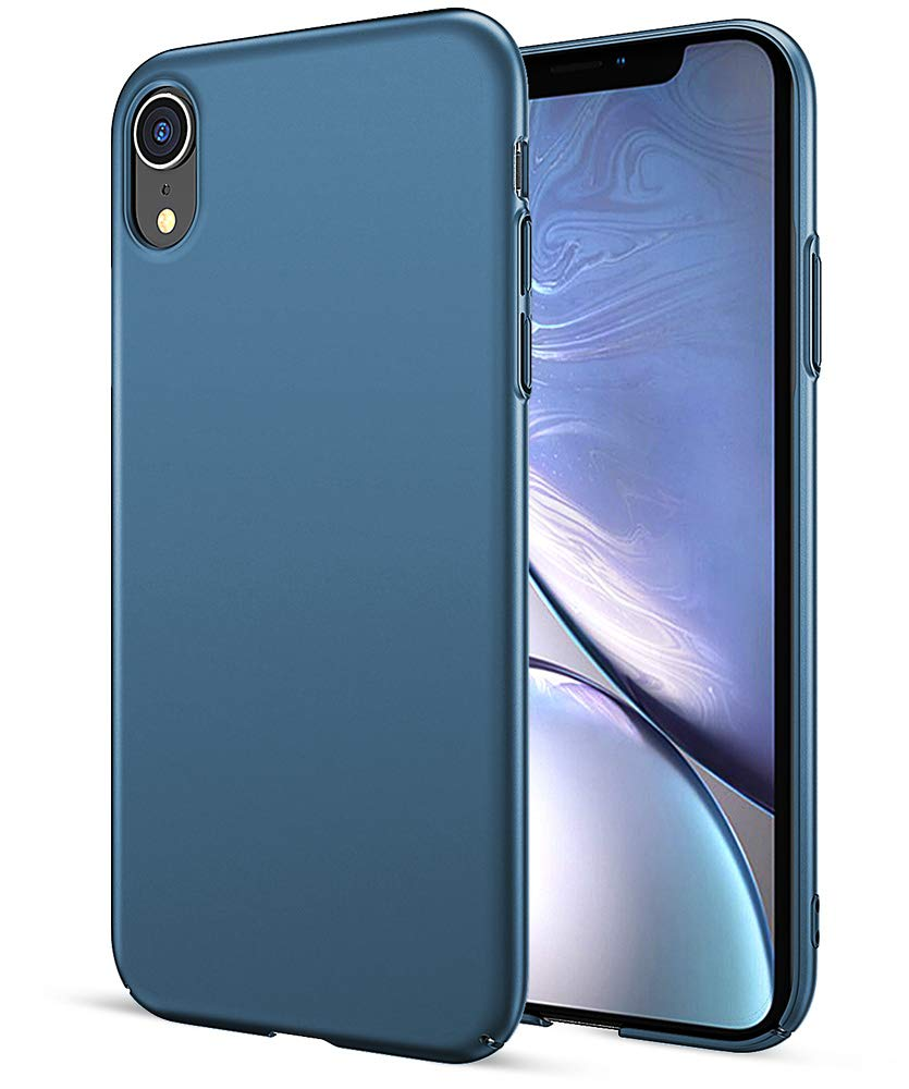 EIISSION Coque iPhone XR, Ultra Mince Premium ToughShell Silicone Premium/Exact Fit/NO Bulkiness Coque pour iPhone XR, Violet CP-PC-SB-IP-XR-PP-FA