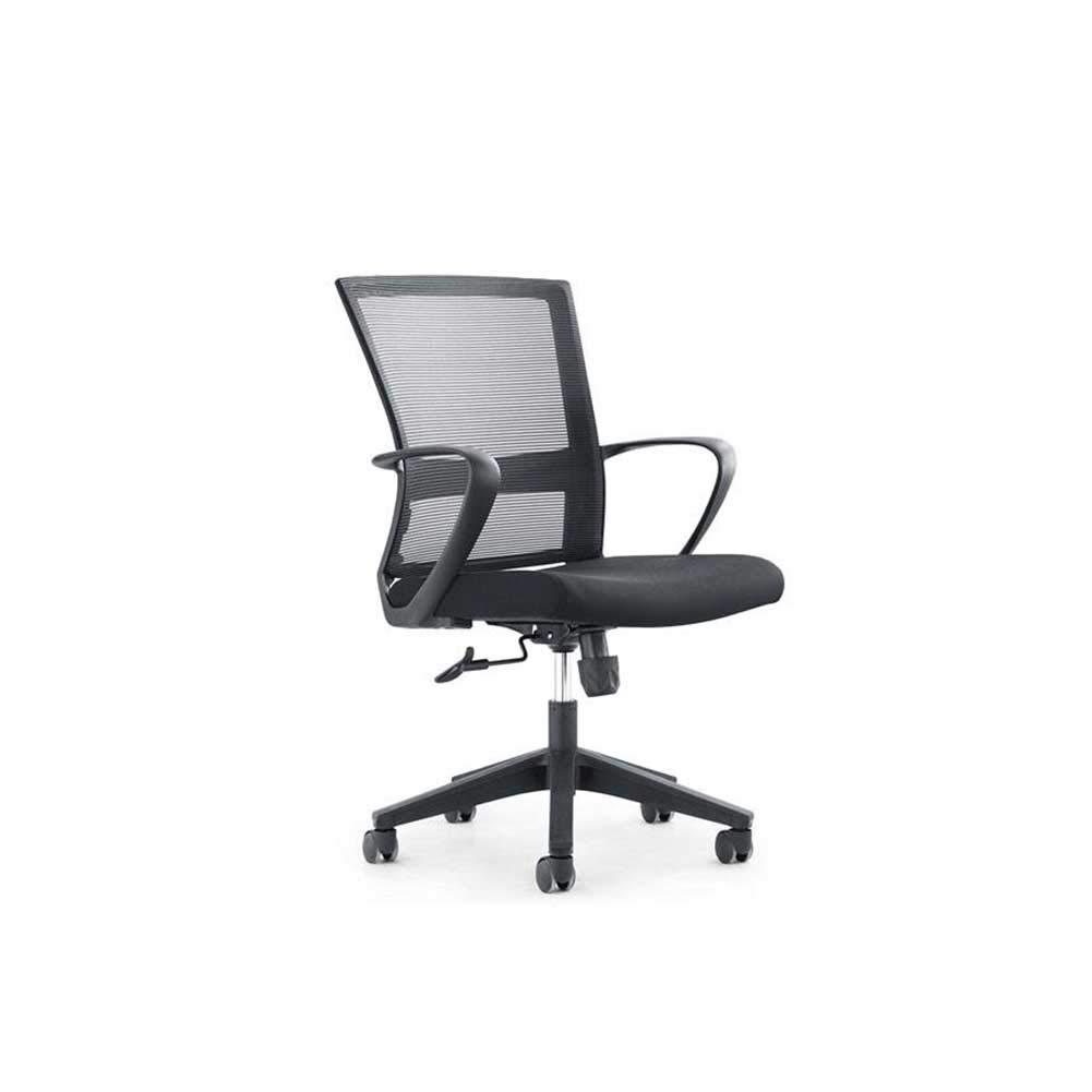 XUERUI 快適 回転椅子 家庭 シンプル モダン 椅子 立上り ドロップ オフィス 人間工学 椅子 耐久性のある (色 : Black-a) B07PDXZWFR Black-a