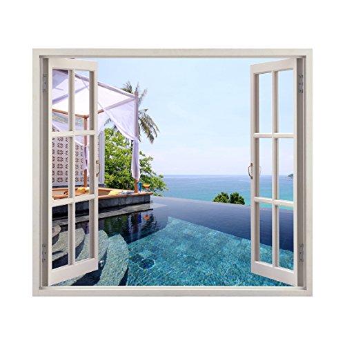 Infinity Pool Windowscape - Wall Decal