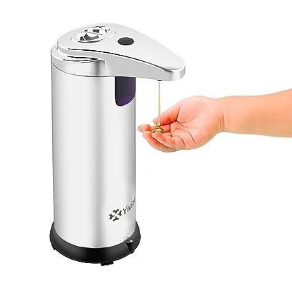 Dispensador de jabón de acero inoxidable dispensador de jabón automático ajustable para cocina y baño 280