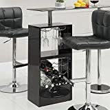Coaster Home Furnishings Transitional Bar Table, Black