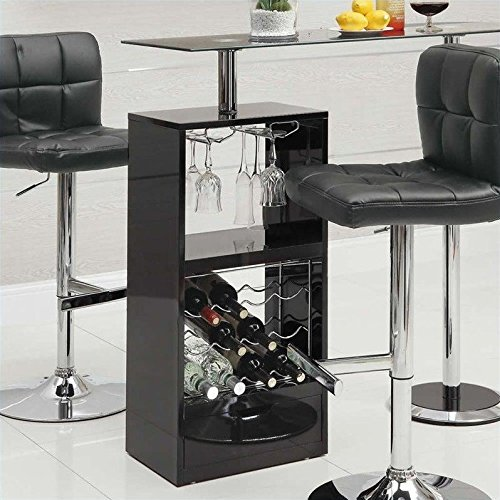 Coaster Home Furnishings Transitional Bar Table, Black For Sale
